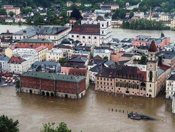 Záplavy v Německu.