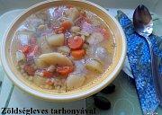 Polévka z kořenové zeleniny s tarhoňou
