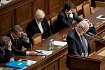 Jednání Sněmovny o žádost o vyslovení souhlasu s trestním stíhání poslanců Andrej Babiš a Jaroslava Faltýnka 19. ledna v Praze. Faltýnek, Babiš