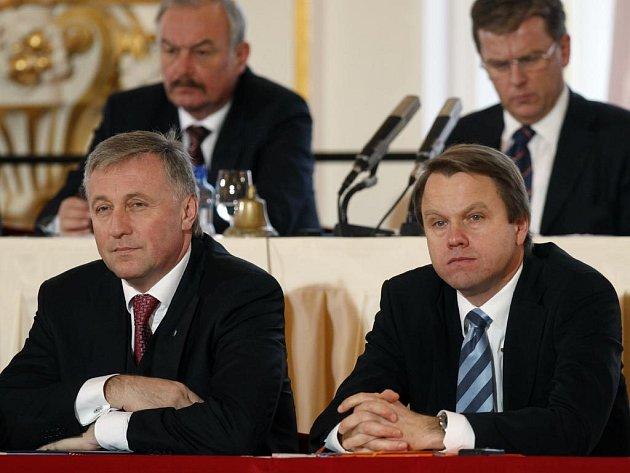 Miroslav Topolánek a Martin Bursík