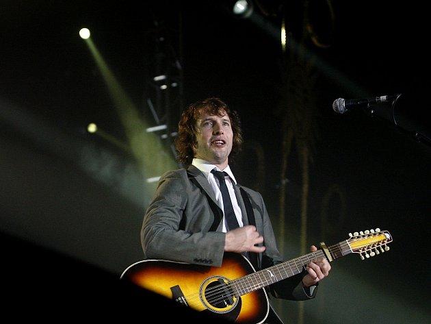 Britský zpěvák James Blunt vystoupil 27. října 2008 v pražské Tesla Areně.