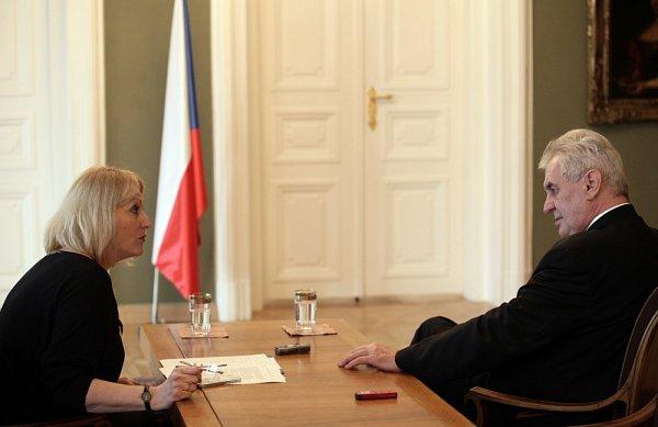 Miloš Zeman a Kateřina Perknerová