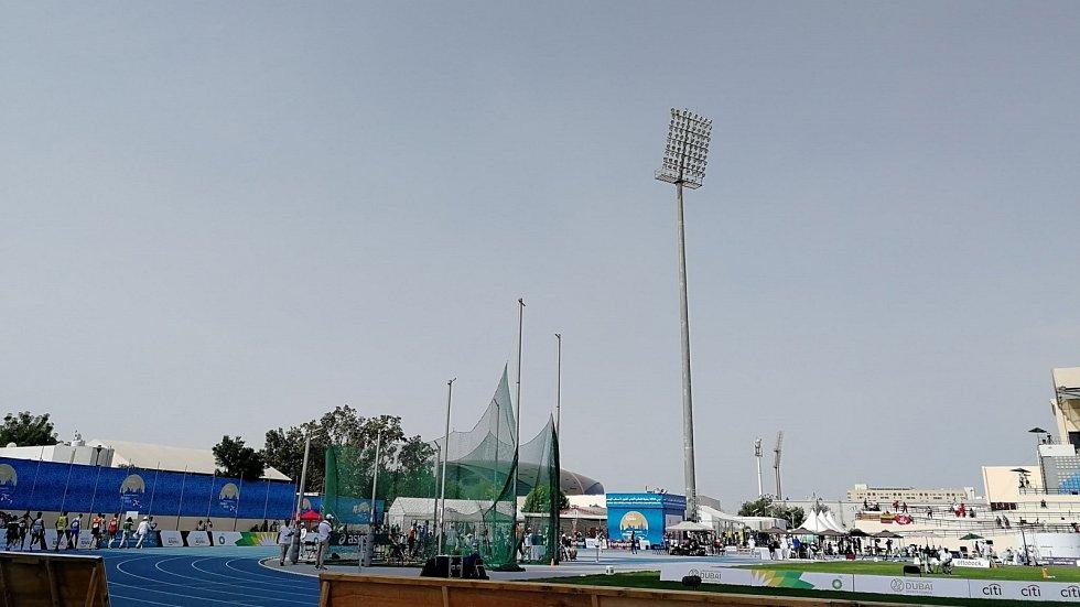 Stadion, na kterém se koná v Dubaji mistrovství světa v para atletice.