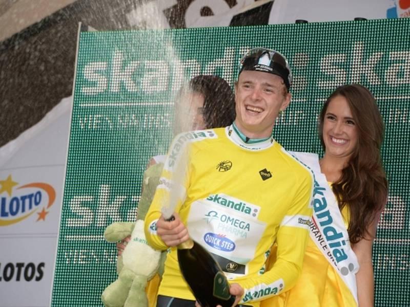 Petr Vakoč uhájil po třetí etapě závodu Kolem Polska žlutý trikot lídra.