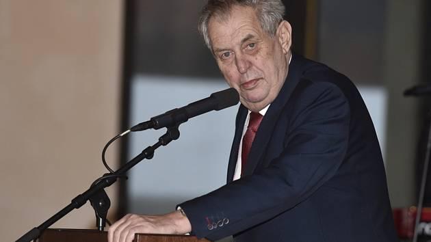Prezident Miloš Zeman na snímku z 8. března 2020