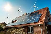 Dům se solárními panely - Ilustrační foto