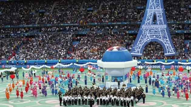 Slavnostní zahájení fotbalového Eura 2016 ve Francii.