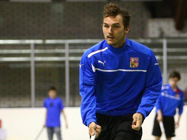 Český florbalista Milan Tomašík.