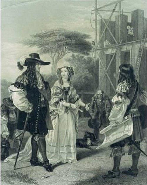 Nell Gwyn přesvědčuje svého milence Charlese II., aby postavil nemocnici