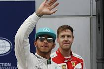Lewis Hamilton ovládl kvalifikaci na Velkou cenu Malajsie před Sebastianem Vettelem