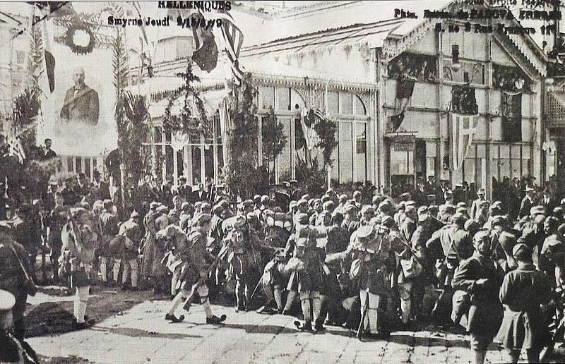 Řečtí vojáci po obsazení Smyrny 15. května 1919