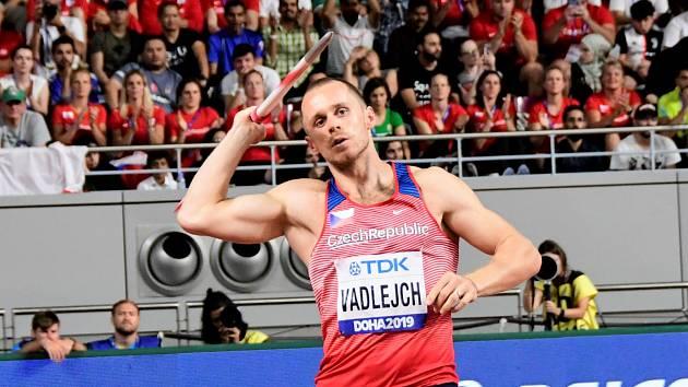 Jakub Vadlejch vybojoval na MS v Dauhá 5. místo