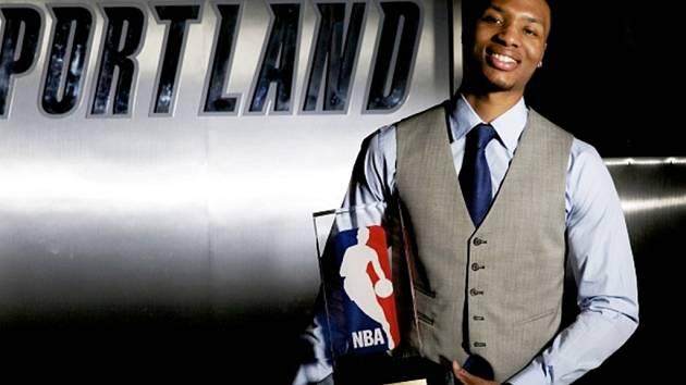 Nováček roku v NBA Damian Lillard z Portlandu.
