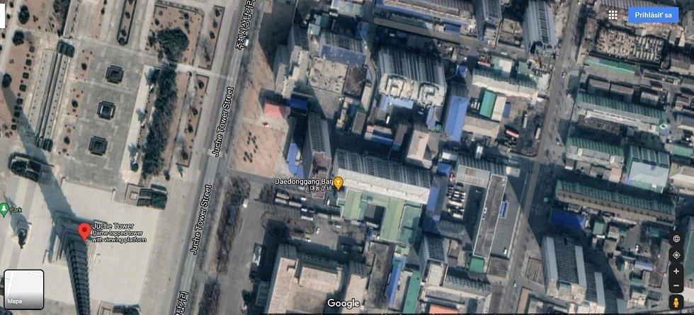 Třeba severokorejské hlavní město Pchjongjang lze vidět na satelitních snímcích ve vysokém rozlišení.