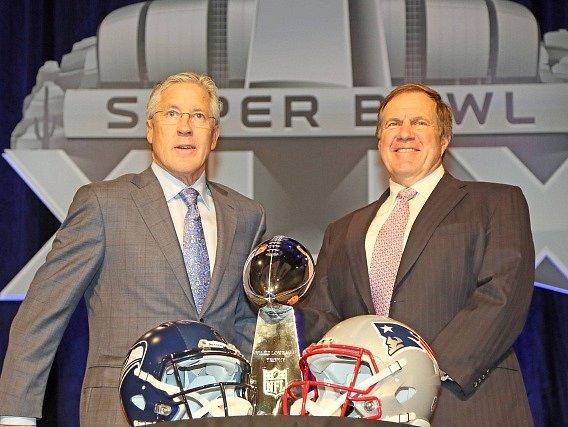 Trenéři před Super Bowlem: Pete Carroll od Seahawks a Bill Belichick z Patriots