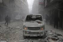 Boje ve východosyrské provincii Dajr az-Zaur, ilustrační foto.