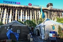 Náměstí Nezávislostiv Kyjevě. Ilustrační foto.