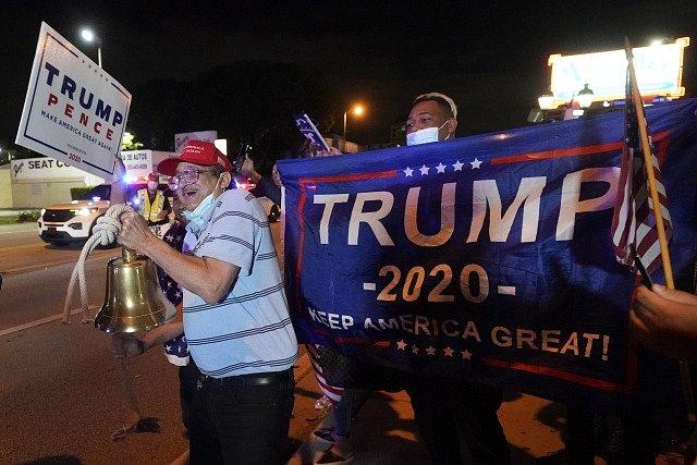 Příznivci amerického prezidenta Donalda Trumpa.