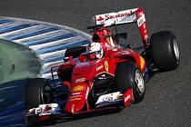 Sebastian Vettel při testech v Jerezu
