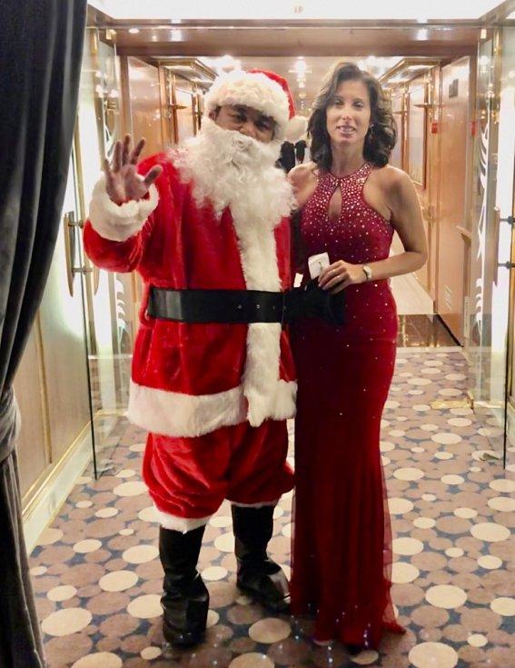 Vánoce na zaoceánské lodi.