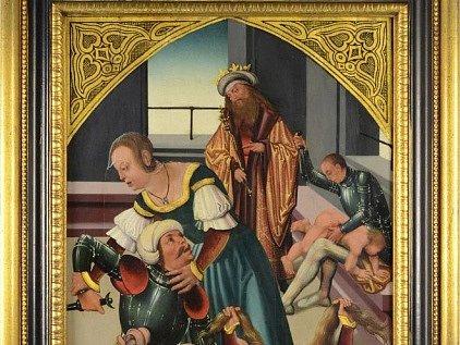 Deskový obraz od Mistra Litoměřického oltáře.