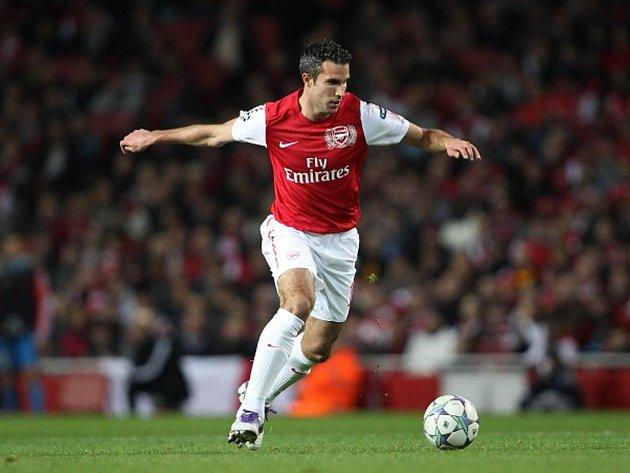 Střelec Arsenalu Robin van Persie.