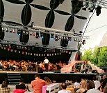 Operní stage na festivalu Sziget v Budapešti.