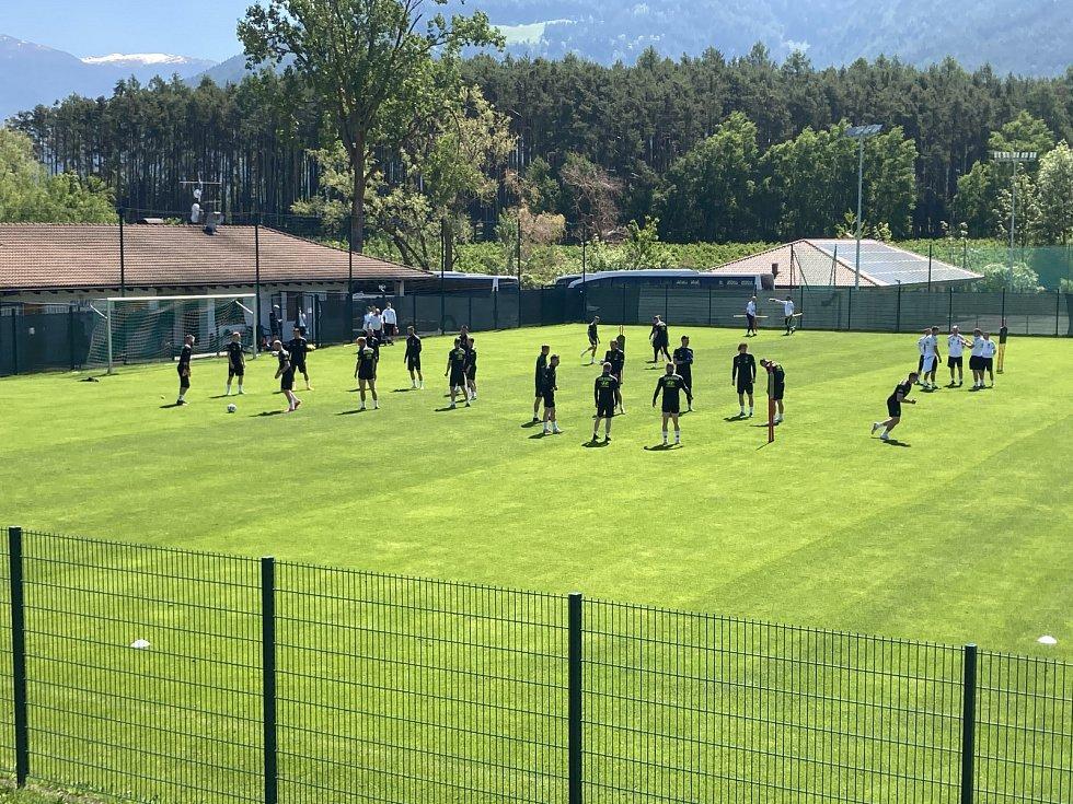 Česká fotbalová reprezentace na soustředění v Jižním Tyrolsku.