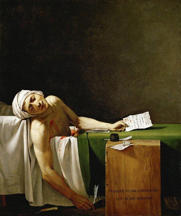 Maratova smrt od Jacquese-Louise Davida (1793)