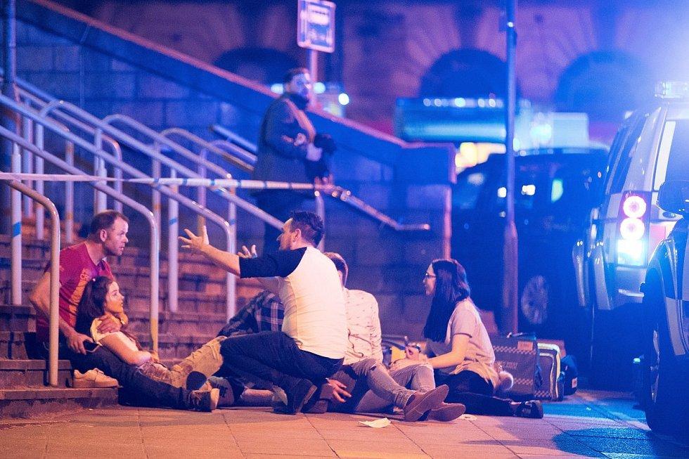 Exploze na koncertě v Manchesteru