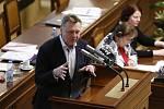 Pavel Juříček na jednání Poslanecké sněmovny