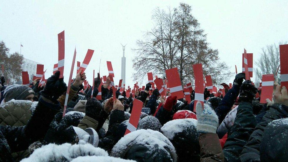 Akce v ruském městě Samara