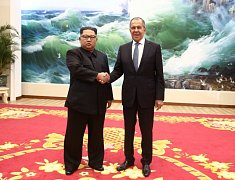 Sergej Lavrov a Kim Čong-un