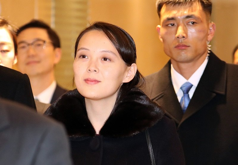 Kim Jo-čong, sestra severokorejského diktátora Kim Čong-una, po příletu do jihokorejského Inčcheonu.