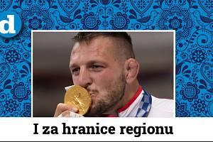 Lukáš Krpálek se zlatou medailí.