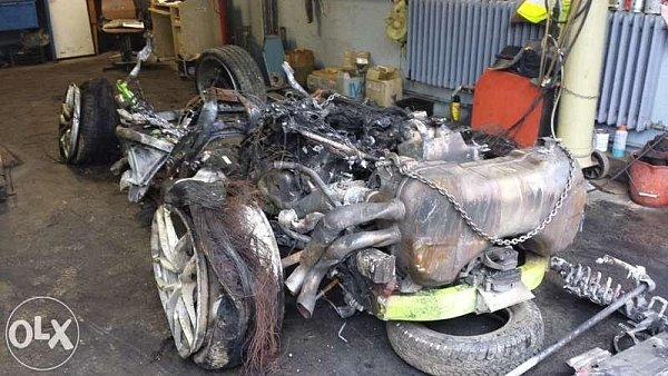 Vrak českého Lamborghini Huracán je na prodej.