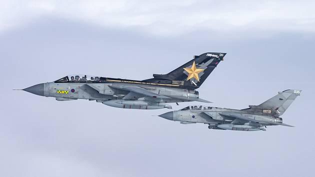 Panavia Tornado GR4 v barvách britského královského letectva