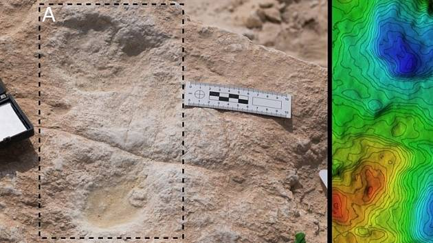 Lidská stopa nalezená v Alatharu a jí odpovídající digitální model