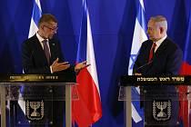 Český premiér Andrej Babiš (vlevo) a jeho izraelský protějšek Benjamin Netanjahu