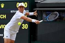 Tomáš Berdych v semifinále Wimbledonu v roce 2017