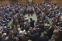 Schůze britského parlamentu na snímku z  20. prosince 2019