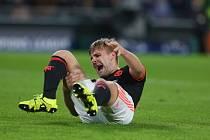 Zraněný Luke Shaw z Manchesteru United.