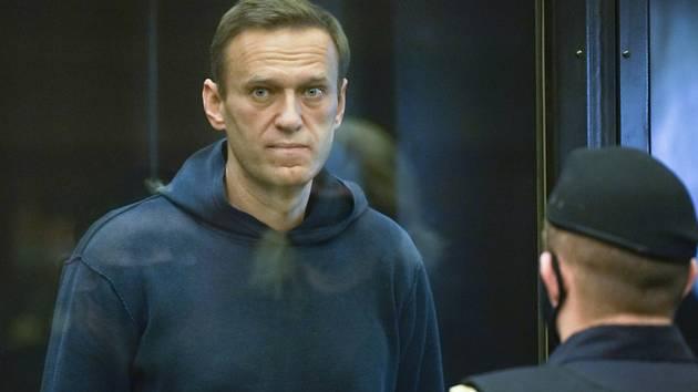Ruský opoziční vůdce Alexej Navalnyj u soudu v Moskvě 2. února 2021