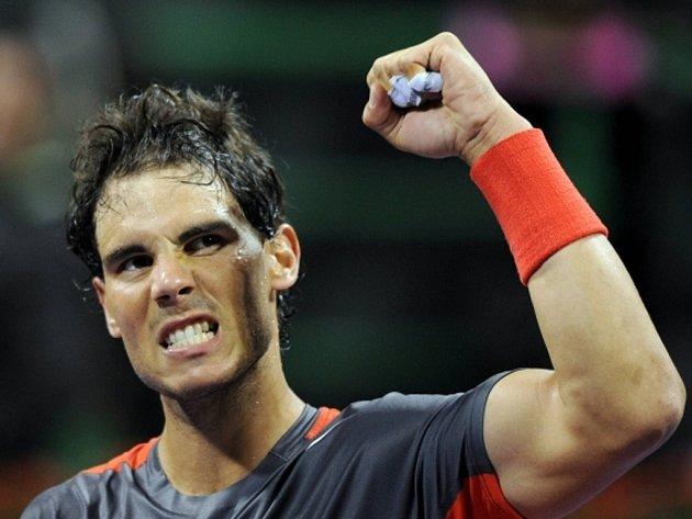 Rafael Nadal na turnaji v Dauhá.