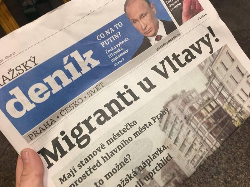 """Upozorněním na hoax o """"migrantech u Vltavy"""" odstartovala v březnu 2018 rubrika Deník proti fake news. Letos v červnu se hoax začal opět šířit v nové podobě"""