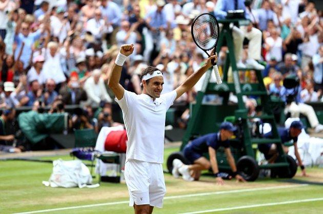 Roger Federer, vítěz Wimbledonu 2017