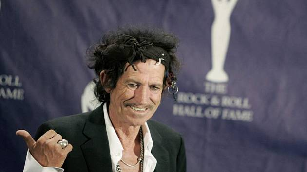 Zpěvák Keith Richards