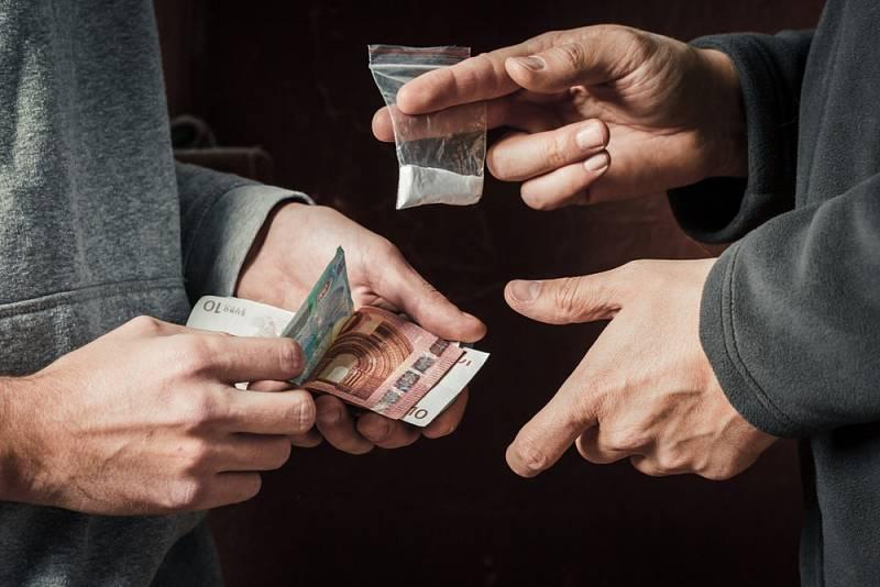 Prodej drog. Ilustrační snímek