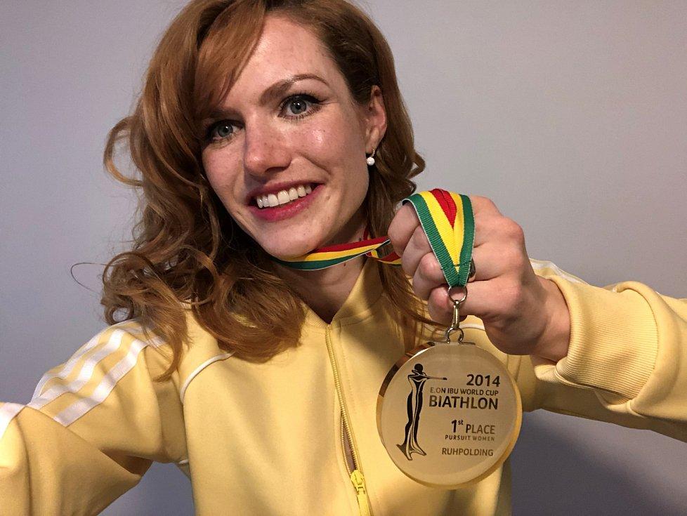 Gabriela Koukalová prodala zlatou medaili z Ruhpoldingu