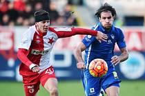 Liberec - Slavia: Michael Rabušic a Jiří Bílek
